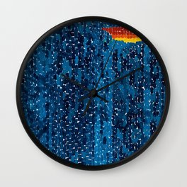 Alma Thomas, African American Portrait, Lucias Unity abstract painting Wall Clock