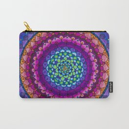 OHMandala Pink and Purple Colored Pencil Mandala Illustration by Imaginarium Creative Studios Carry-All Pouch