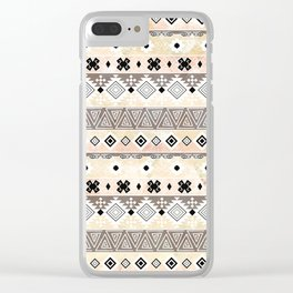 Striped Aztec pattern. Clear iPhone Case
