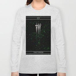 A Tarot of Ink Major Arcana XVI The Tower Long Sleeve T-shirt