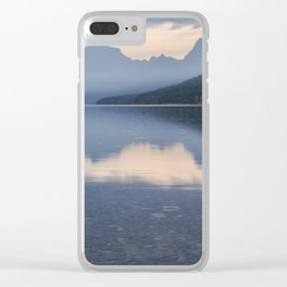 Early Morning at Lake McDonald - Glacier NP Clear iPhone Case