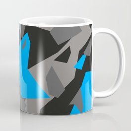 Black\Grey\Blue Geometric Camo Coffee Mug