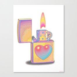 ZIPPO LOVE Canvas Print