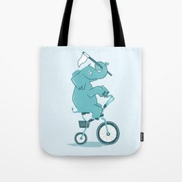 Elephant Racer Tote Bag