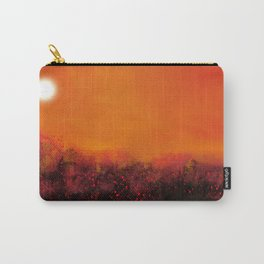 """""""The Burning Fields"""" Digital Painting // Fine Art Print Carry-All Pouch"""