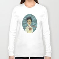 frida kahlo Long Sleeve T-shirts featuring Frida Kahlo by Chris Talbot-Heindl