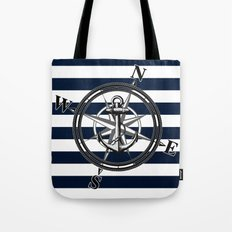 Navy Striped Nautica Tote Bag