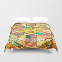 kaleidoscope Duvet Covers featuring Kaleidoscope by Tammy Kushnir