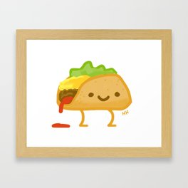 Happy Taco Framed Art Print
