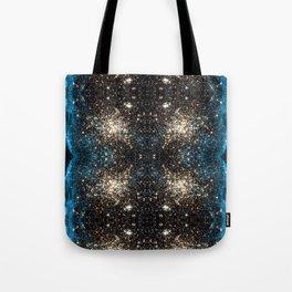Blue Aurora Galaxy Star Field Tote Bag