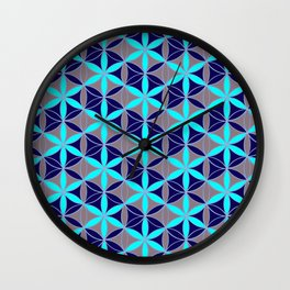 Flower of Life 17 Wall Clock