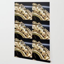 Alto saxophone black background Wallpaper