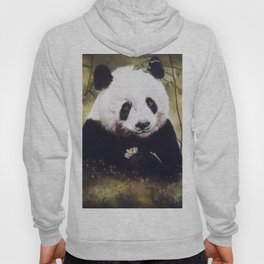 Panda Bear Pastel Painting Hoody