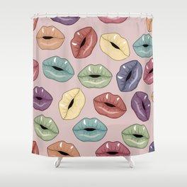 Lips pattern Shower Curtain