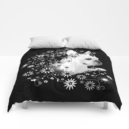 Flower Goddess Frenchie Comforters