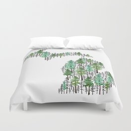 Michigan Forest Duvet Cover