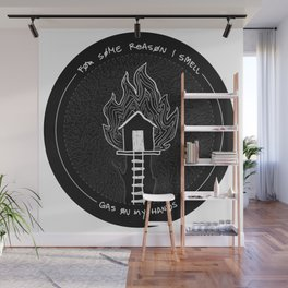 My tree house is on fire Wall Mural