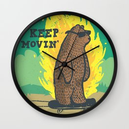 Just Keep Moving Wall Clock