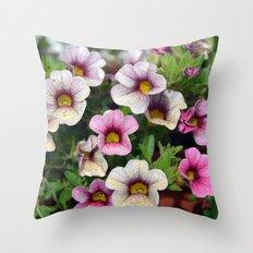 Floral summer cocktail Throw Pillow