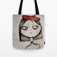 french fries Tote Bags featuring French Fries by Zara Kunst