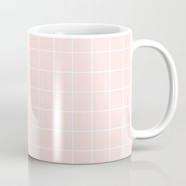 Peach Grid Pattern | Millennial Pink Coffee Mug