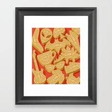 custard creams Framed Art Print