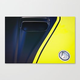 Classic Ford Mustang Mach1 Hood Canvas Print