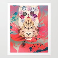 psychedelic Art Prints featuring Psychedelic by Pepe Psyche