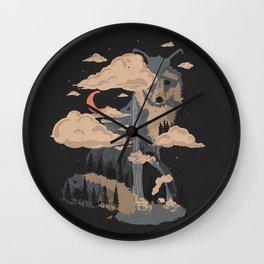 At the Foot of Fox Mountain... Wall Clock
