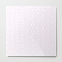 Winter 2018 Color: Pink Cream in Cubes Metal Print