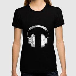 patent art Falkenberg Headphone assembly 1966 T-shirt