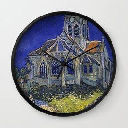 Vincent van Gogh - The Church at Auvers Wall Clock
