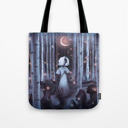 Pale Rainbow - Forest Tote Bag