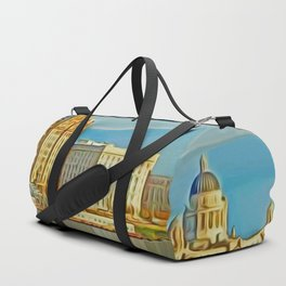 Water front Liverpool (Digital Art) Duffle Bag