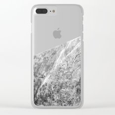 Wooden Marble Clear iPhone Case