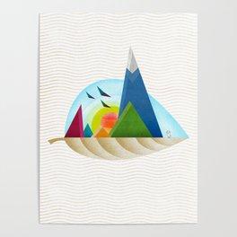 075 - Autumn leaf minimal landscape III Poster