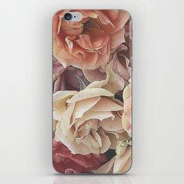 Great Garden Roses,peach iPhone Skin