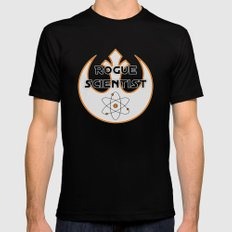 Rogue Scientist Black LARGE Mens Fitted Tee