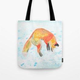 Leaping Fox Watercolor Tote Bag