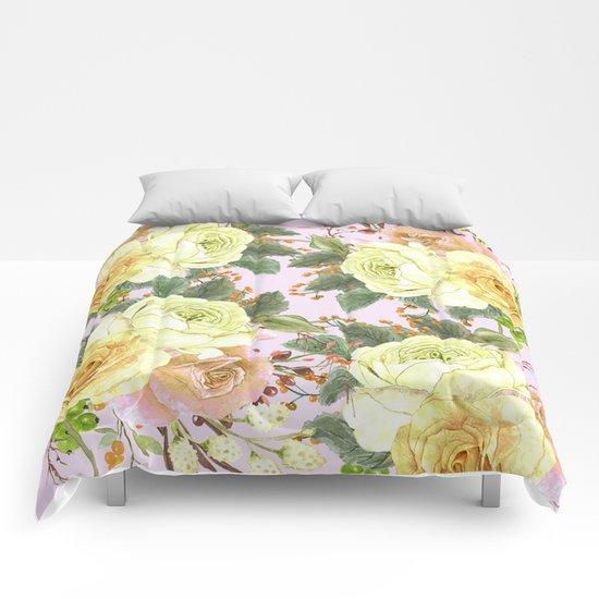 Watercolor Roses #4 Comforters