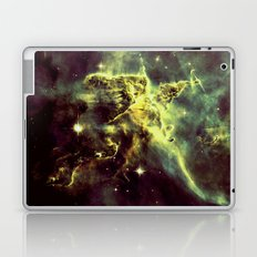Galaxy Nebula Golden Green Laptop & iPad Skin