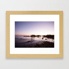 Morning on the lake Framed Art Print