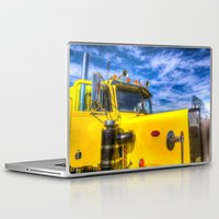 truck Laptop & iPad Skins featuring Peterbilt Truck by David Pyatt