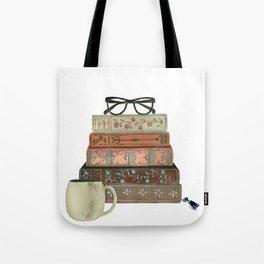 Books & Coffee by Lindsay Brackeen Tote Bag