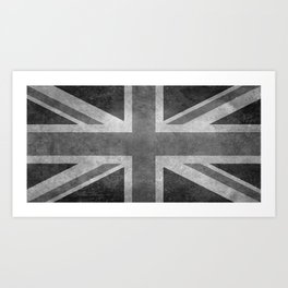 British Union Jack flag 1:2 scale retro grunge Art Print