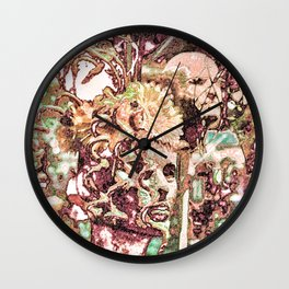 Floral Interaction Wall Clock
