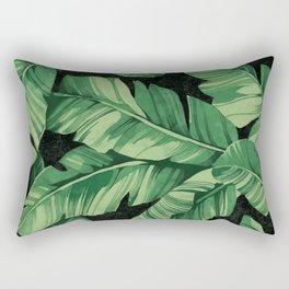 Tropical banana leaves II Rectangular Pillow
