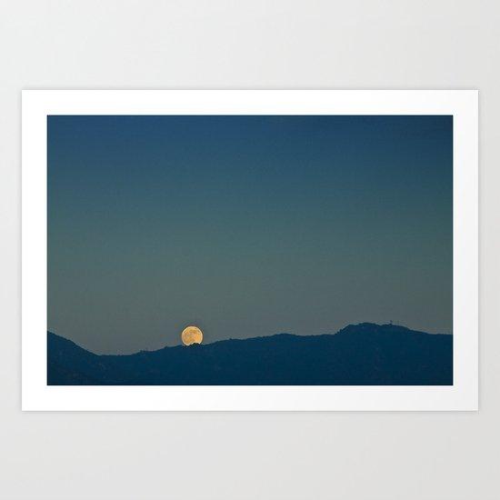 Blue Sky Moon, 2011 Art Print