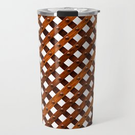 Symmetrical wooden pattern Travel Mug