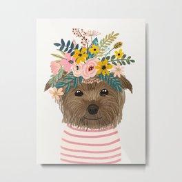 Floral Yorkshire Metal Print